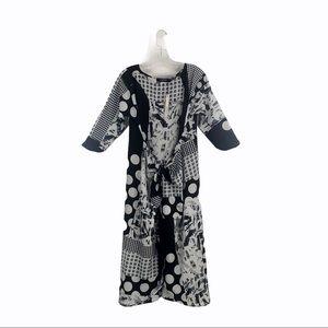 Caara Multi Pattern Waist Tie Dress